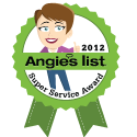 Angies List Service Award For 2012